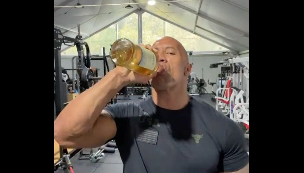 """Dwayne Johnson Celebrates Biden Win by Crying """"a Tear or Two — or Ten"""" and Pounding Tequila"""