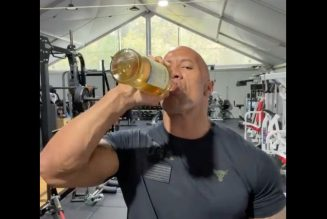 "Dwayne Johnson Celebrates Biden Win by Crying ""a Tear or Two — or Ten"" and Pounding Tequila"