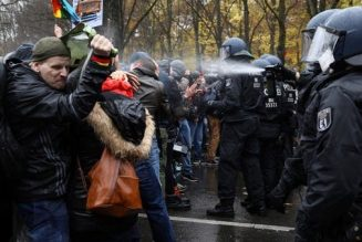 German police clash with protesters angry at Angela Merkel's coronavirus law