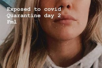 Hilary Duff in Quarantine Due to COVID-19 Exposure