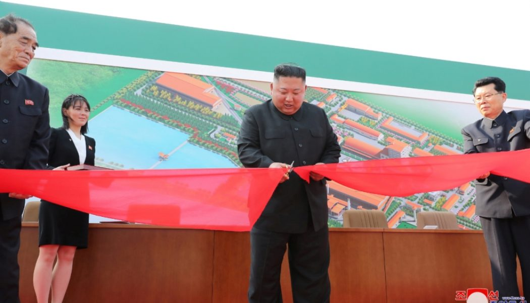 North Korea's Kim Jong-un makes first public appearance in almost a month