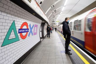 Sony's iconic PlayStation shapes take over London Tube station for UK PS5 launch