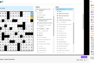 Soothe your election nerves by solving crossword puzzles together on Twitch
