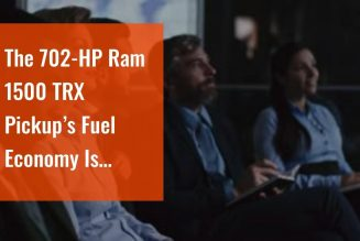 The 702-HP Ram 1500 TRX Pickup's Fuel Economy Is Exactly What You'd Expect