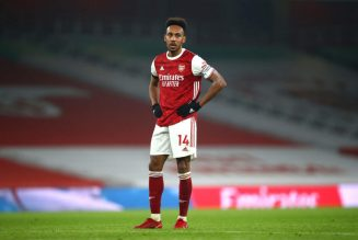 Arteta says Aubameyang is not undroppable but provides him with his full support