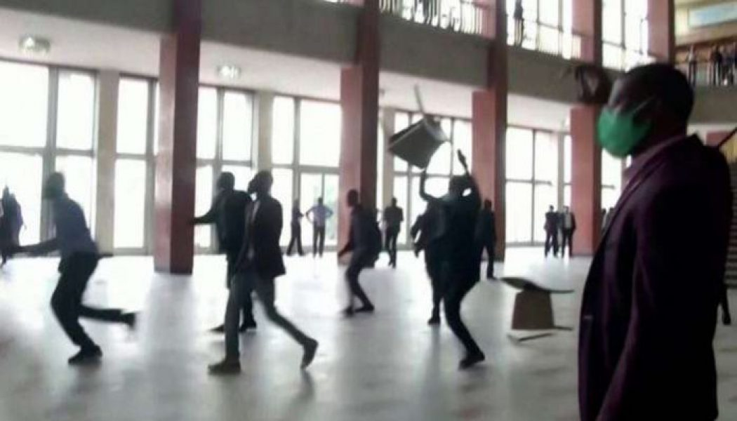 Congo lawmakers hurl chairs in parliament brawl