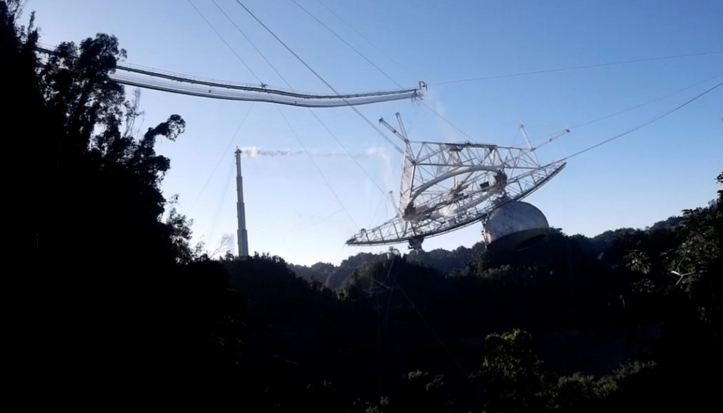 Drone footage shows the shocking collapse of the Arecibo Observatory