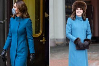 Kate Middleton Loves Her Blue Catherine Walker Coat So Much, She Re-Wore It Two Years Later