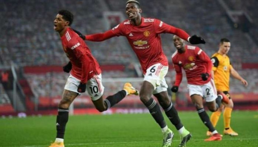 Marcus Rashford tames Wolves to send Manchester United into second