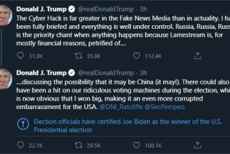 Nothing makes me worry more about the SolarWinds hack than Trump now saying it's 'under control'