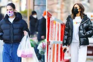 The Puffer Coats That Katie Homes, VB and Other Celebs Are Wearing RN
