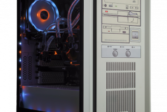 The RestoMod is a limited-edition retro-looking PC with a fake floppy drive