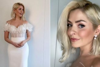 Holly Willoughby Wore a Stunning Halfpenny Bridal Two-Piece For Dancing On Ice Week 2