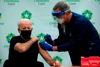 Joe Biden receives second dose of coronavirus vaccine on camera