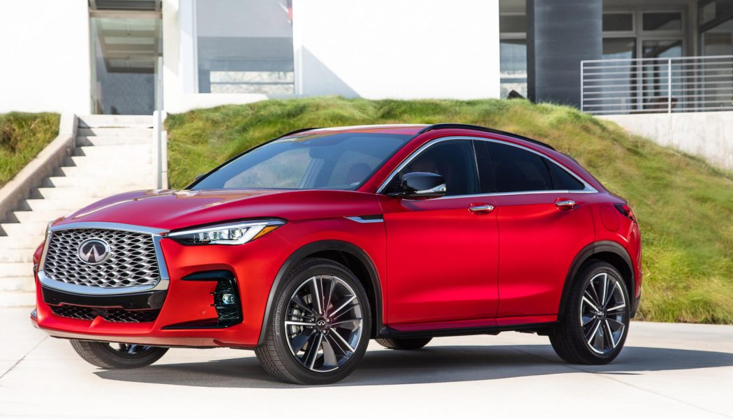 2022 Infiniti QX55 Coupe-UV Thing Costs More Than QX50, Has Less Space