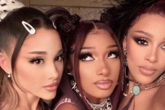 """Ariana Grande, Megan Thee Stallion, and Doja Cat Have a Luxe Hotel Night in the """"34+35 (Remix)"""" Video: Watch"""