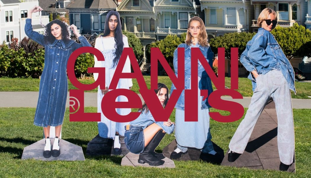 Ganni and Levi's Launch Sustainable Jeans Collection Made From an Innovative Denim Alternative