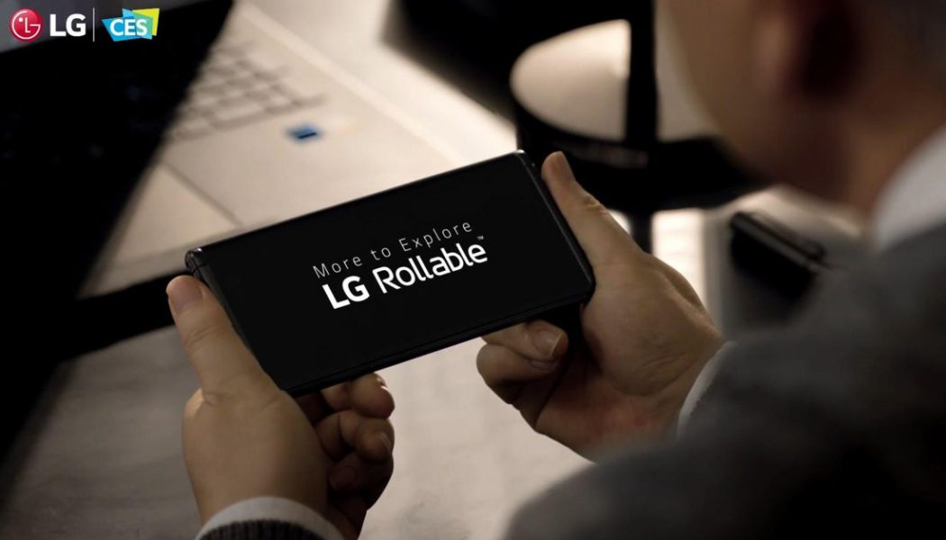 LG denies the Rollable phone has been put on hold