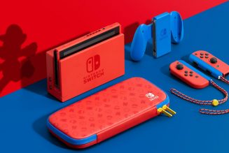 Nintendo's new Mario-themed Switch is available now
