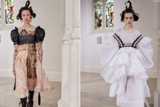 """Simone Rocha's Autumn 2021 Collection Celebrates """"Fragile Rebels"""" With Lots of Leather and Tulle"""