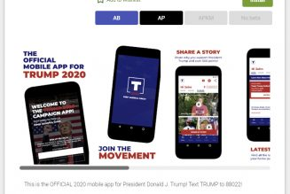 Trump's campaign app was suspended from the Google Play Store because it didn't work
