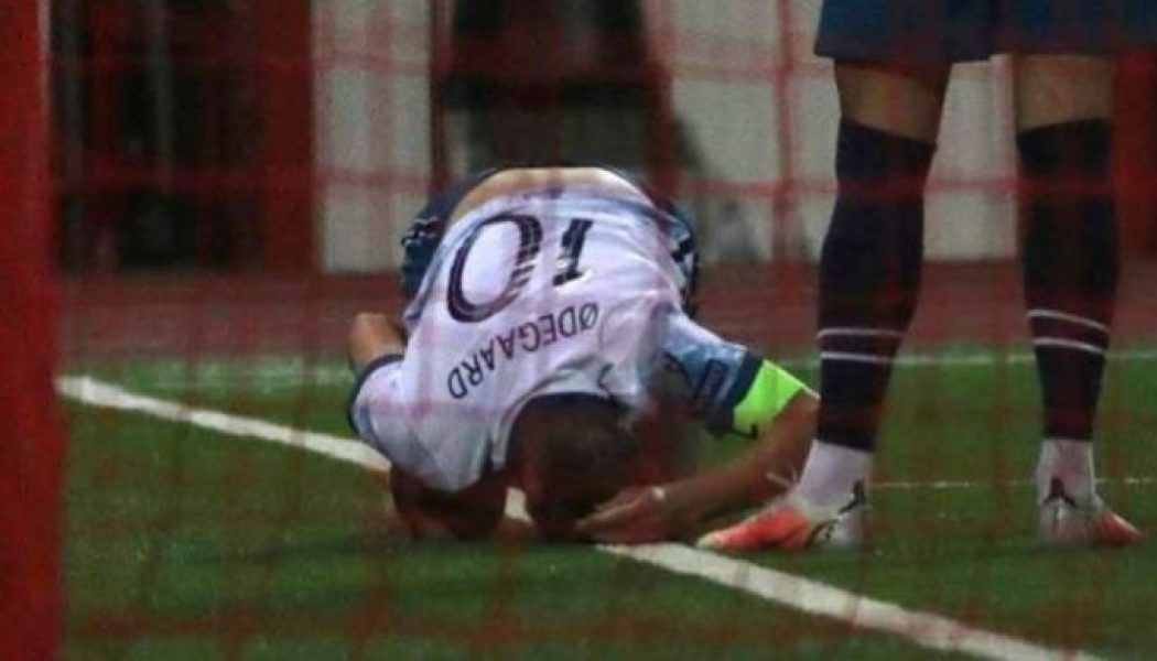 Arsenal receive positive Martin Odegaard update after ankle injury scare