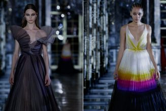 Dior's Autumn 2021 Collection Is Inspired by Mermaids, Debutantes, and Harlequin Jesters