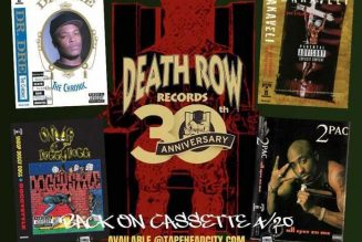 Dr. Dre, Snoop Dogg, 2Pac Releases Coming to Cassette for Death Row Records' 30th Anniversary