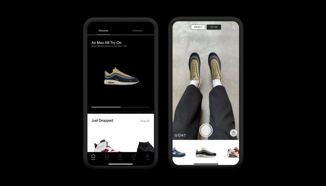 GOAT Giving Users The Chance To Score Rare Nike Air Max Kicks By Using AR Try-On Feature