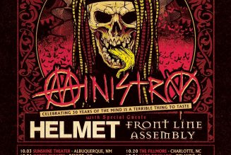 Ministry Announce Fall 2021 US Tour with Helmet and Front Line Assembly