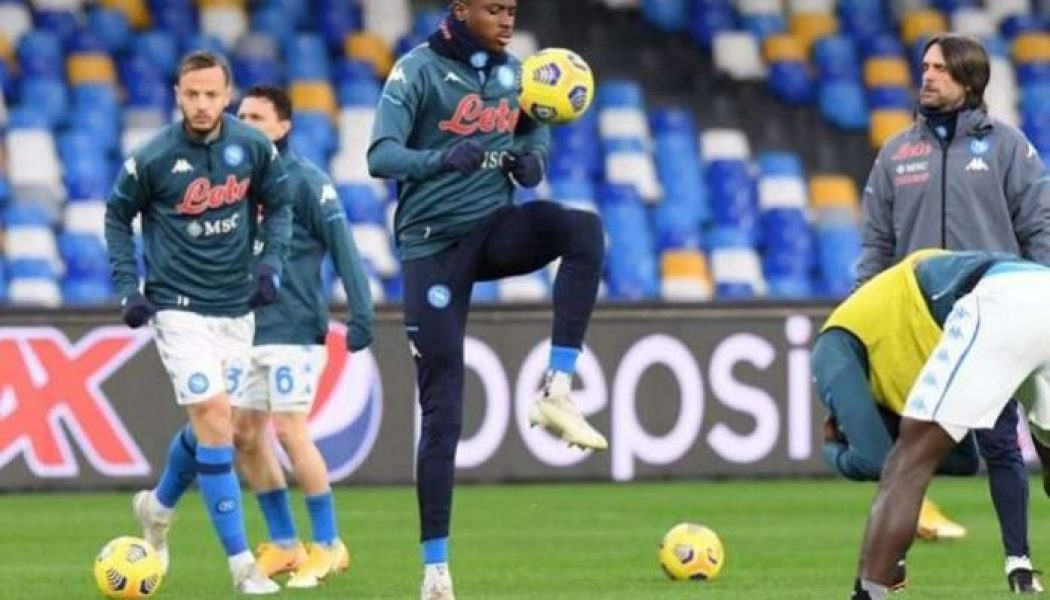 Victor Osimhen returns to training ahead of Bologna clash