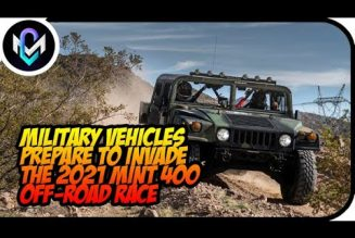 Military Vehicles Prepare to Invade the 2021 Mint 400 Off-Road Race