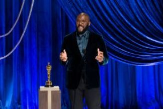 Tyler Perry Accepts Humanitarian Award at 2021 Oscars With Plea To Not Hate Police Officers