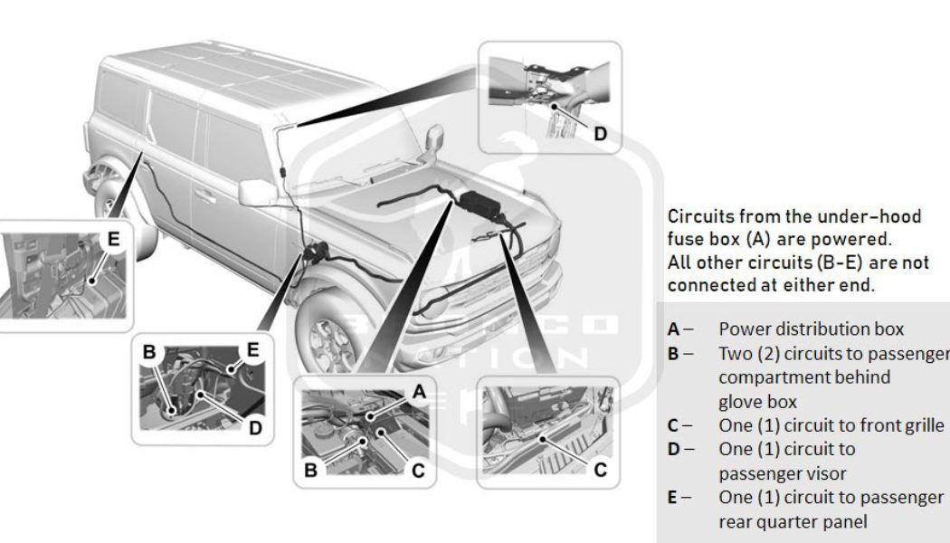 Ford Bronco Gets Built-In Upfitter Switches, Pre-Wiring for Easy Power Accessory Installs