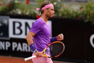 Italian Open: Rafael Nadal beats Denis Shapovalov to reach quarter-finals