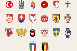 All Euro 2020 nation crests redesigned, for the modern era