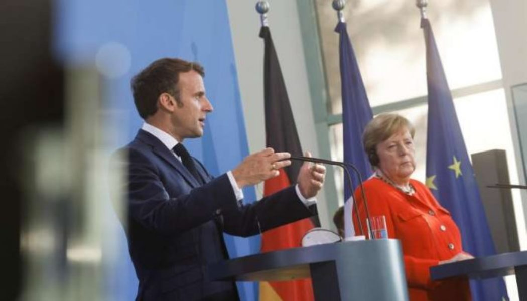French, German leaders urge EU coordination on reopening borders