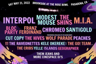 Just Like Heaven Festival Returning in 2022 with Interpol, Modest Mouse, M.I.A., The Shins