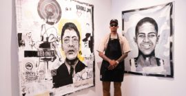 """Ju Working on Projects Debuts """"Painting the Blueprint"""" Solo Show"""