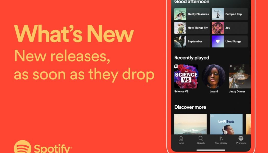 Spotify Will Make It Easier to Find 'What's New' by Introducing Personalized New-Release Feed