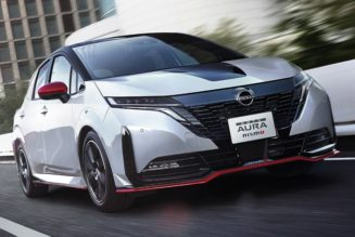 NISMO Gives the Electrified Nissan Note Aura a Sporty Tweak