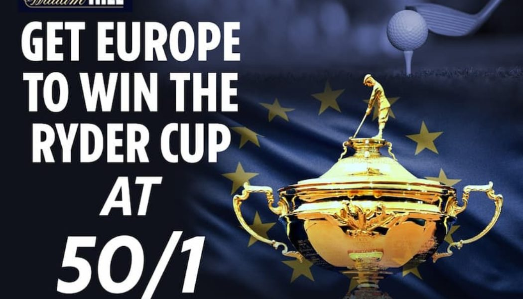 2021 Ryder Cup Betting Tips – Get Enhanced Odds of 50/1 on a European win at William Hill