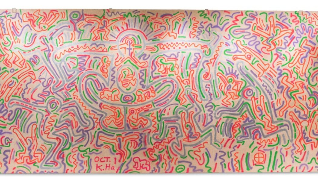 A Rare Keith Haring Mural Will Exhibit at the New York City Center