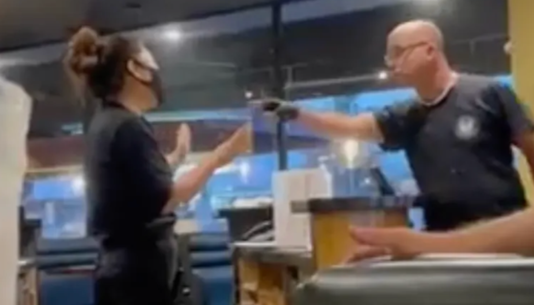 Anti-Masker Gets 2-Pieced In The Face After Angry Tirade At Diner