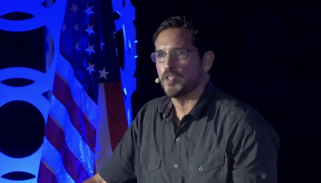 """At QAnon Conference, Jim Caviezel Quotes Braveheart to Fight """"Lucifer"""""""