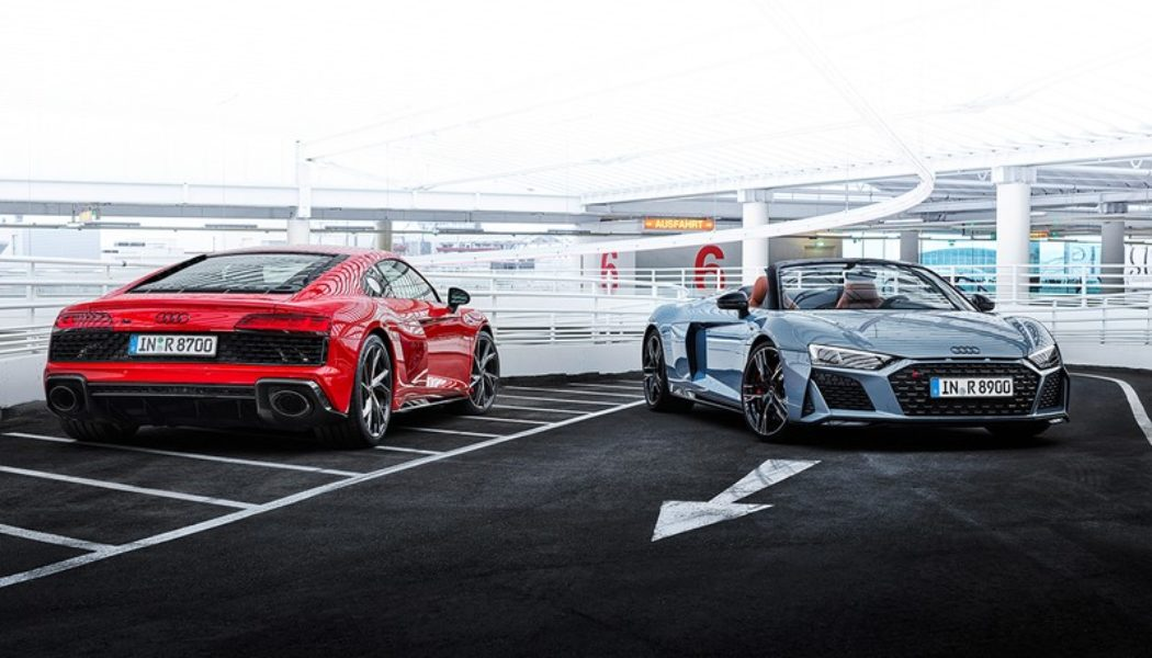 Audi Pumps More Power Into the R8 V10 Performance RWD Coupé and Spyder