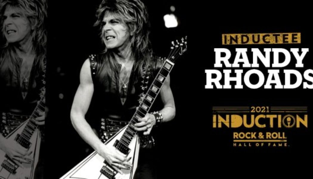Iconic RANDY RHOADS Guitar Featured In New 'Rock And Roll Hall Of Fame' Exhibit