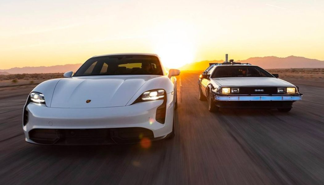 Porsche Celebrates 'Back to the Future' Day by Showing off Its Taycan's 1.21 GW Charging Capacity
